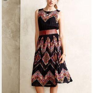 Tanvi Kedia patchworked cheveron midi dress sz 0